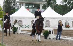 Lance and Lindsey on their once around, 5th place, PSG, CDI Blainville