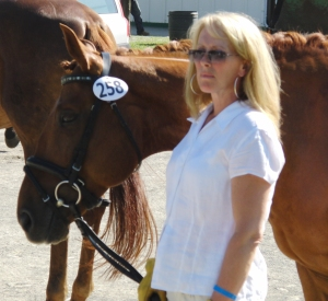 William and I waiting for the jog, CDI Blainville, 2009, FEI 5 yr old