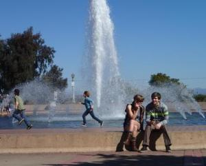 Greg and Phaedra, enjoy the California sun.