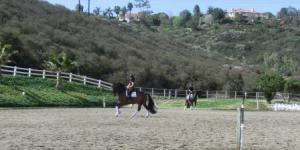Lance in lesson with Shannon.