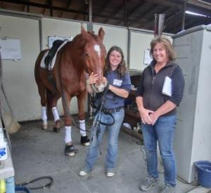 Shannon's groom Carly and Arroyo's barn manager Carrie