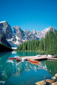 Canoes and Rockies
