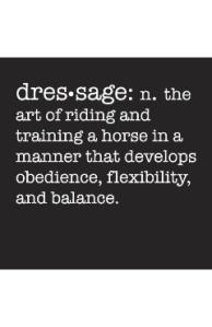 The art of dressage