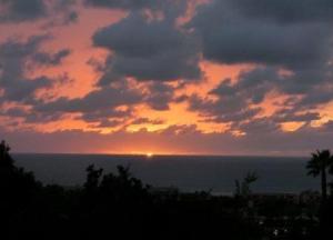 Sunset over Solana Beach.