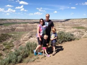 The kids and the Badlands...