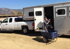 Emma, unloading in Burbank.
