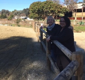 Jane and Iris enjoying the view...early morning rides at Arroyo! Yeah Team Peters!