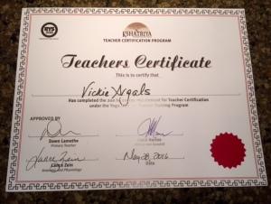 Yoga Certificate